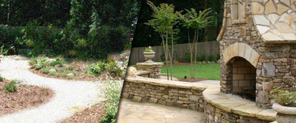 Before & After photos of Atlanta's Elite Landscaping Services