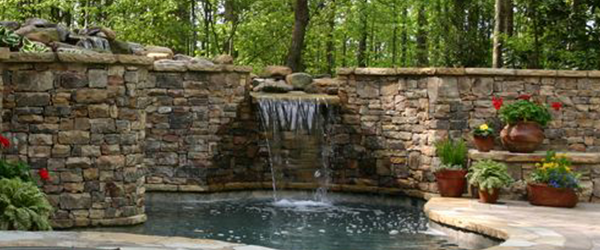 Beautiful Custom Landscaping Water Features
