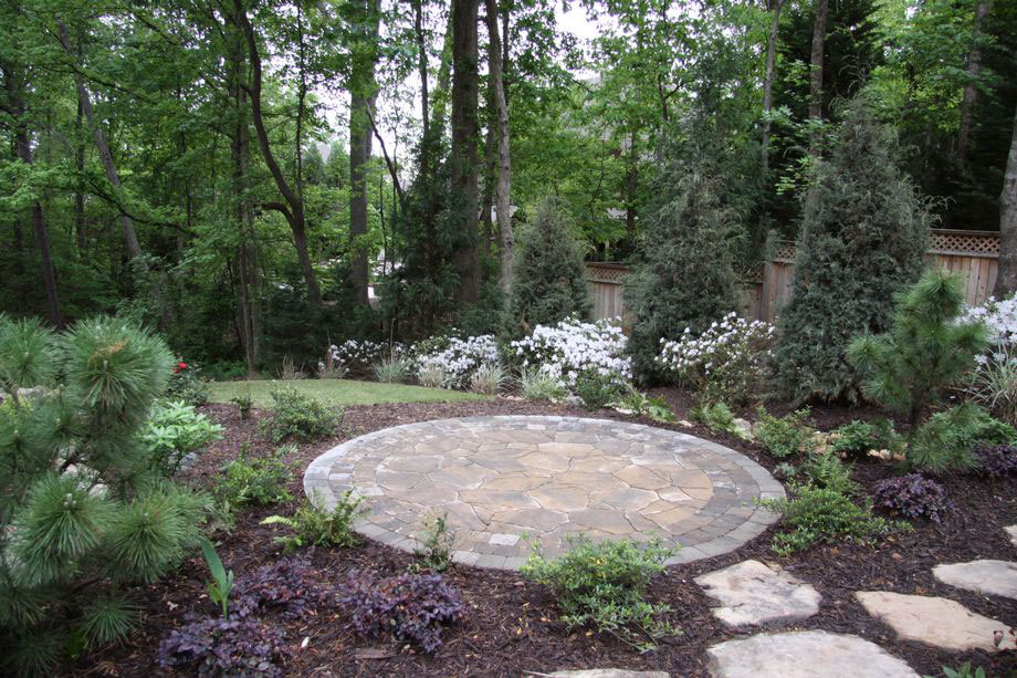 Landscaping Stone Georgia : Outdoor living stone patio stepping stones landscaping