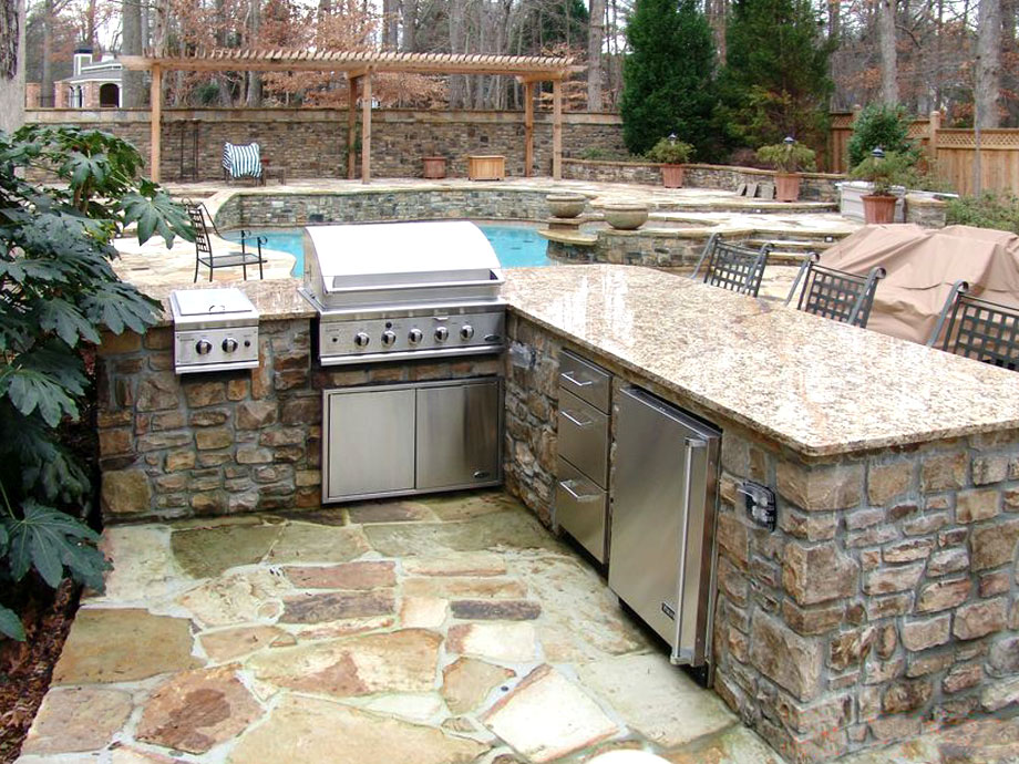 Outdoor cooking station landscaping atlanta for Outdoor cooking station plans