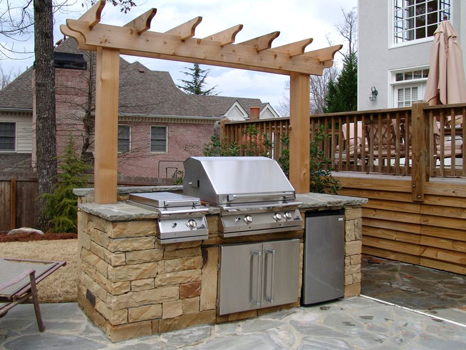 Outdoor Cooking Station Arbor Landscaping Atlanta