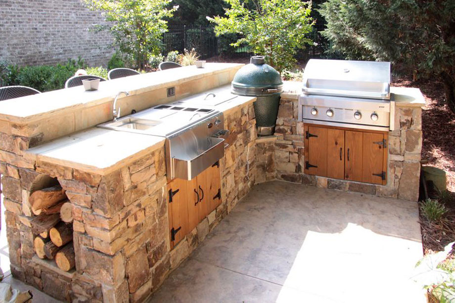 Outdoor cooking station greenegg landscaping atlanta for Outdoor cooking station plans