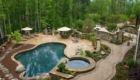 outdoor landscape pool outdoor retreat