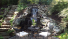 Water feature_Stone Stairs WaterFall Patio